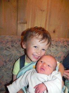 Tobias mit seinem Bruder Fabian