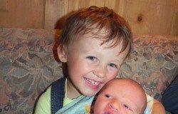 Tobias con suo fratello Fabian
